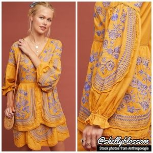NWT Lisette Embroidered Tunic Dress by Meadow Rue